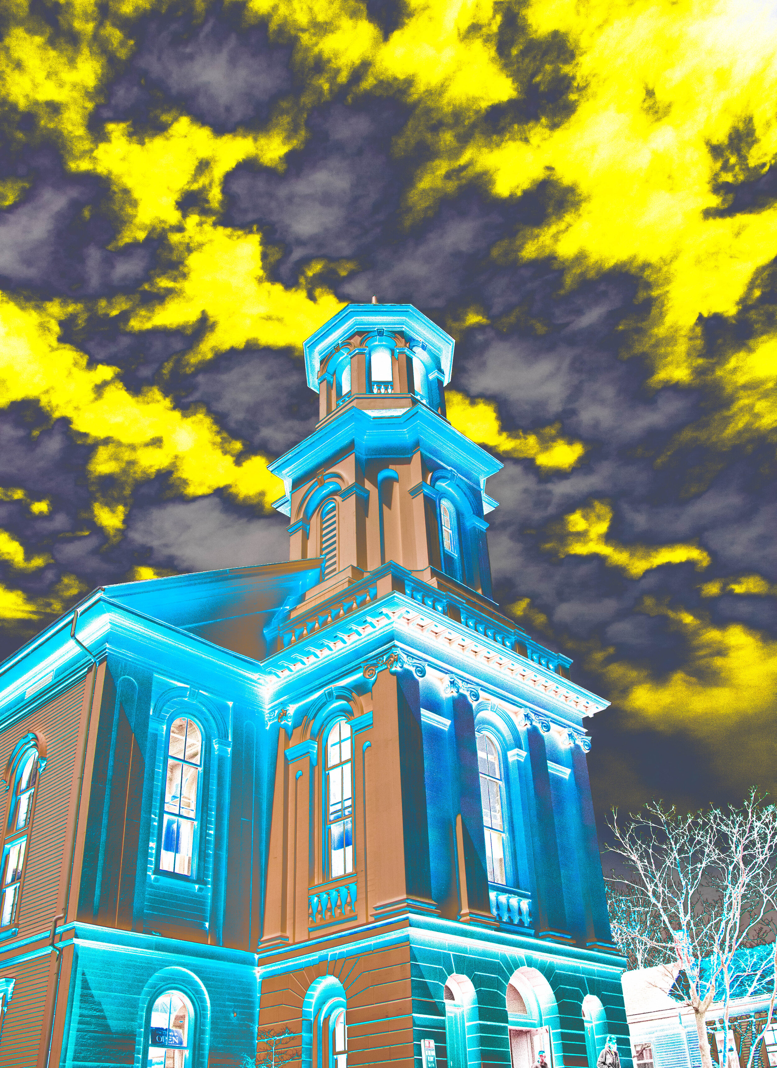 Provincetown Library with Storm Clouds