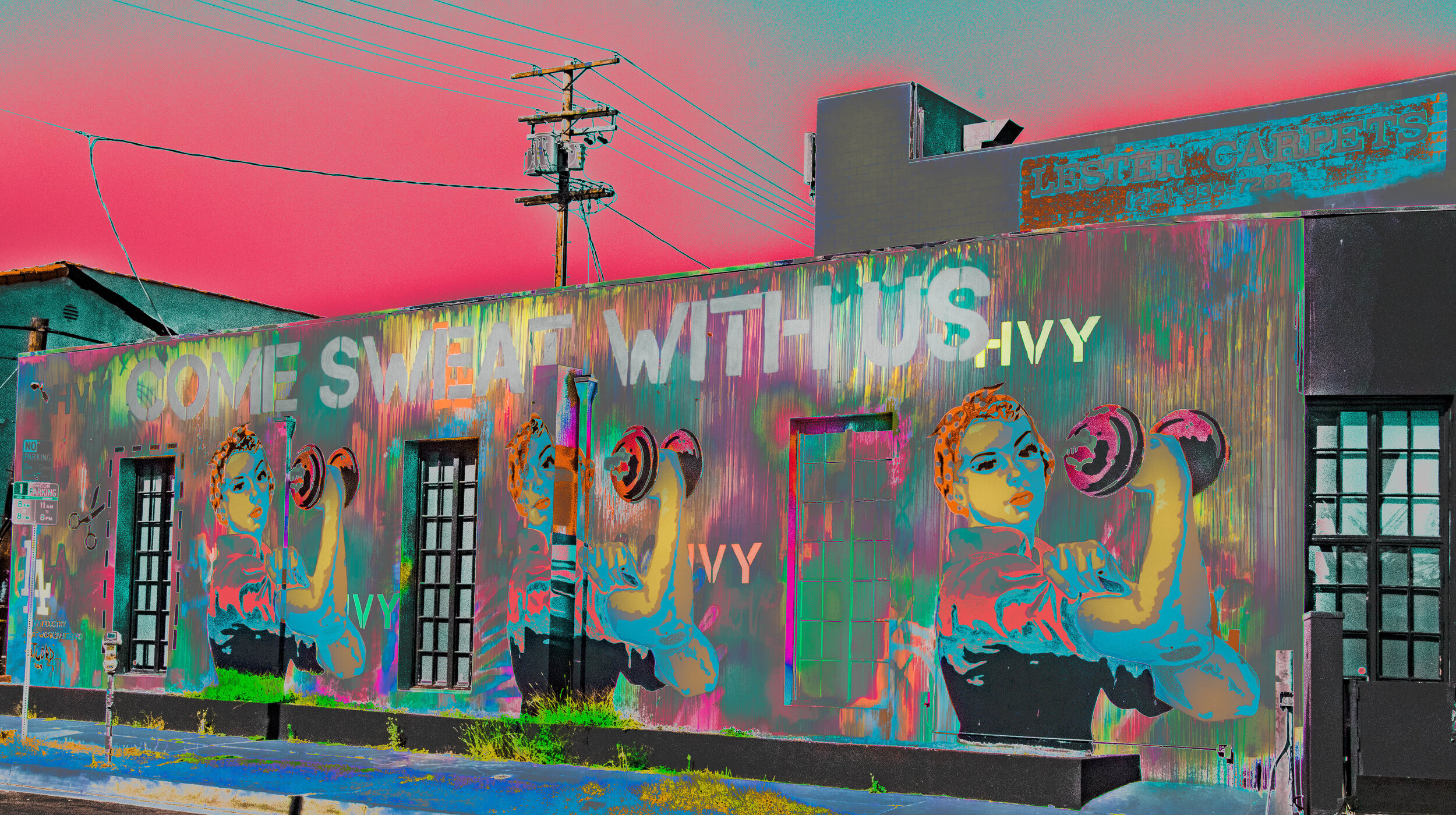 Home Sweat Mural Hollywood