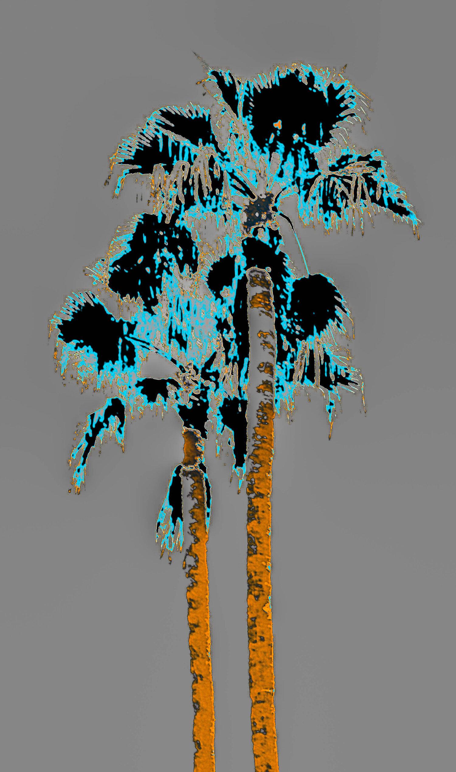 Fantasy Twin Palms Silver/Blue