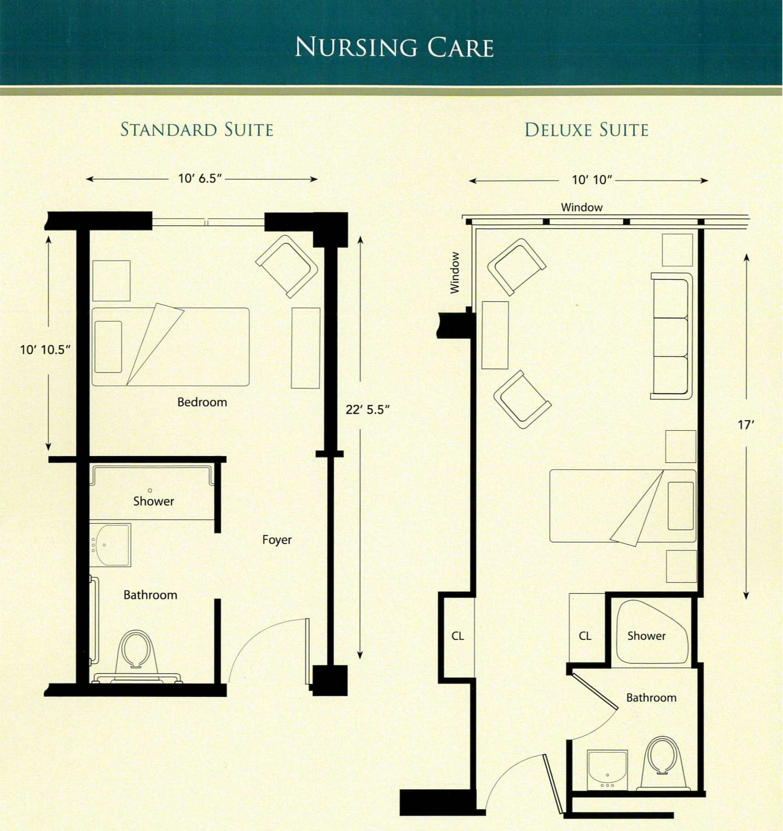 Nursing Care Standard and Deluxe Suites