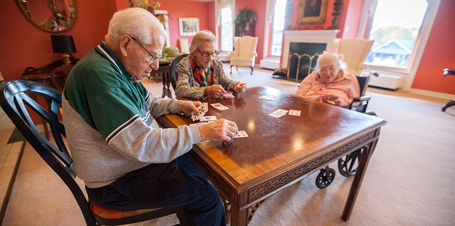 Altenheim Senior Residents Enjoying a Game of Cards