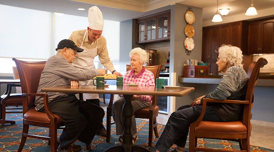 A continuum of care - St. Louis Altenheim provides private rooms for independent living, supported living, memory care, skilled nursing care and respite stays.