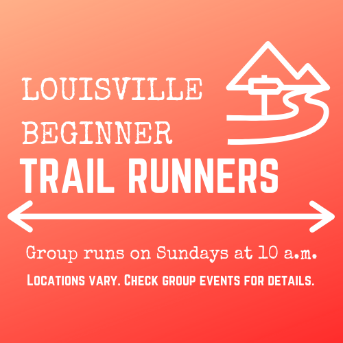 Trail running group social media graphic