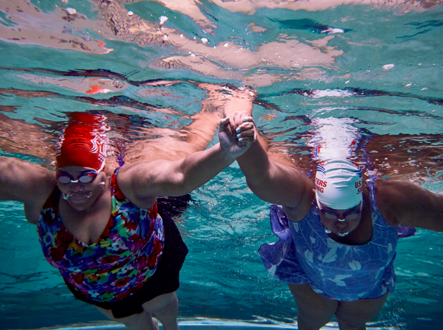 Under Water, Over Fear: a feature article about a local adult learn-to-swim class