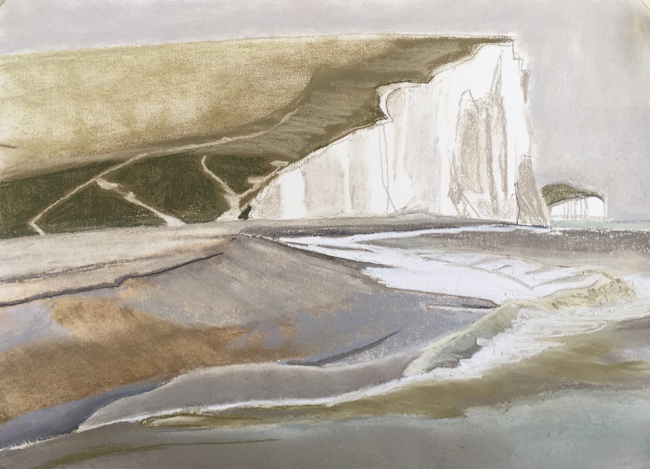 - 11 drawings of the South Downs for Glyndebourne May - September 2018 www.glyndebourne.con