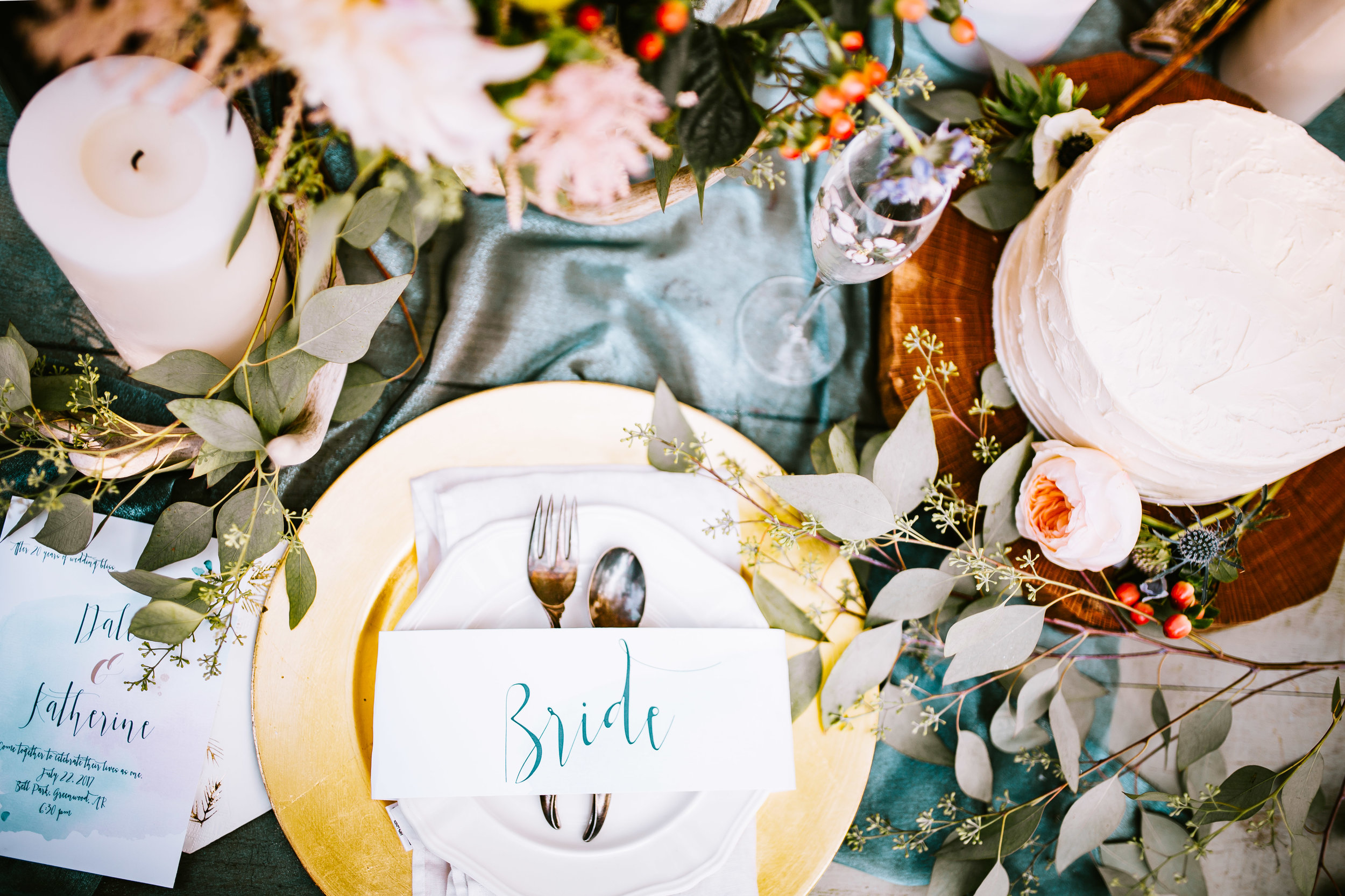Carriage Hills Ranch - Texas Hill Country Venue -  bridal table setting