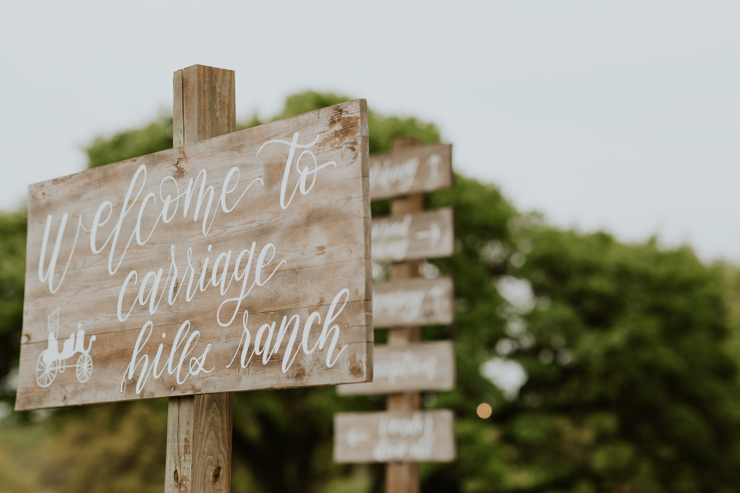 Carriage Hills Ranch - Texas Hill Country Venue - welcome sign