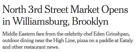 North 3rd Street Market opens in Williamsburg, Brooklyn