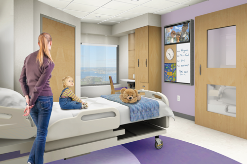 Your gift will be used to create: - • redesigned patient rooms, nursing stations, and play spaces on the inpatient clinical floors;• themed floors differentiated by color and ocean icons for improved way finding;• an ambulatory clinic with enhanced lighting and streamlined registration for the tens of thousands of children we see annually;• warm, open, and inviting lobby areas for families to recharge and find respite;• a renovated emergency department that will be better suited to meet our growing volume and patients' medical-psychiatric needs.