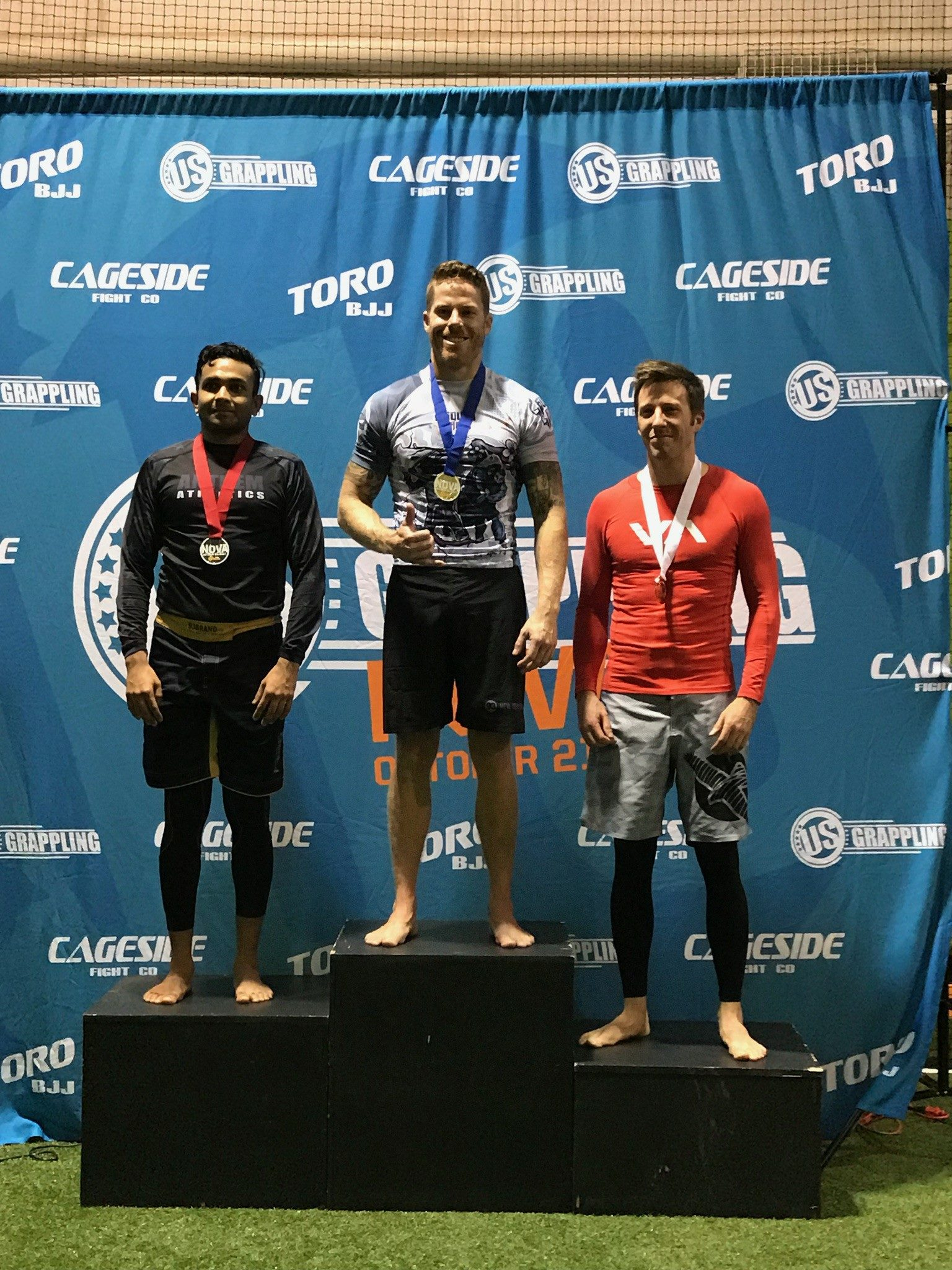Chris, Pictured above on top of the podium at U.S. Grappling.