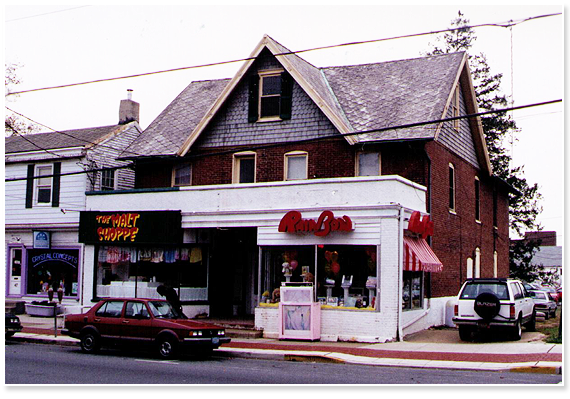 The Malt Shoppe and Rainbow Gifts in 1994 courtesy of Carrie W. (UD class of '94)