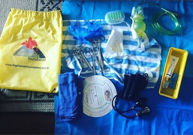 Health worker Kits - These give Birth Attendants vital equipment to assist in birth outside of hospitals.