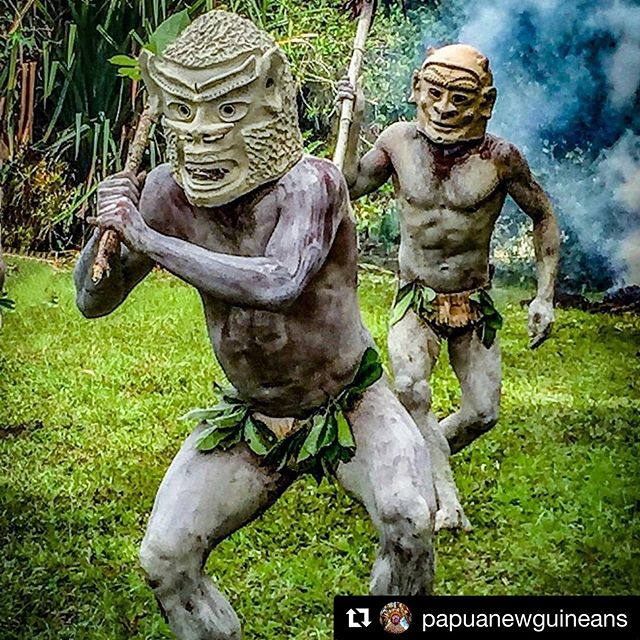 #Repost @papuanewguineans with @get_repost ・・・ Credit to from @wandergal -  The story goes that the men in Asaro village went to war with a neighboring tribe. They hid in muddy water and when they emerged, covered in mud, their enemies thought they were spirits and got scared off. They continue to this day covering themselves in mud and wearing these mud headdresses (which can weigh upwards of 30 pounds). . . . #WanderTours #BeBold #PapuaNewGuinea #PNG #Wanderlust #Wandering #Goroka #Asaro #Mudmen #Mudman #SingSing #NewGuinea #Tribes #Travel #PNGtourism #adventuretravel #discoverearth #travelingram #travelphotography - #regrann