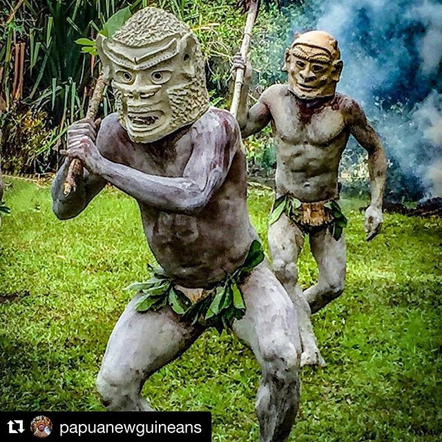 📷 by @papuanewguineans #repost ・・・ Credit to from @wandergal -  The story goes that the men in Asaro village went to war with a neighboring tribe. They hid in muddy water and when they emerged, covered in mud, their enemies thought they were spirits and got scared off. They continue to this day covering themselves in mud and wearing these mud headdresses (which can weigh upwards of 30 pounds). . . . #WanderTours #BeBold #PapuaNewGuinea #PNG #Wanderlust #Wandering #Goroka #Asaro #Mudmen #Mudman #SingSing #NewGuinea #Tribes #Travel #PNGtourism #adventuretravel #discoverearth #travelingram #travelphotography - #regrann