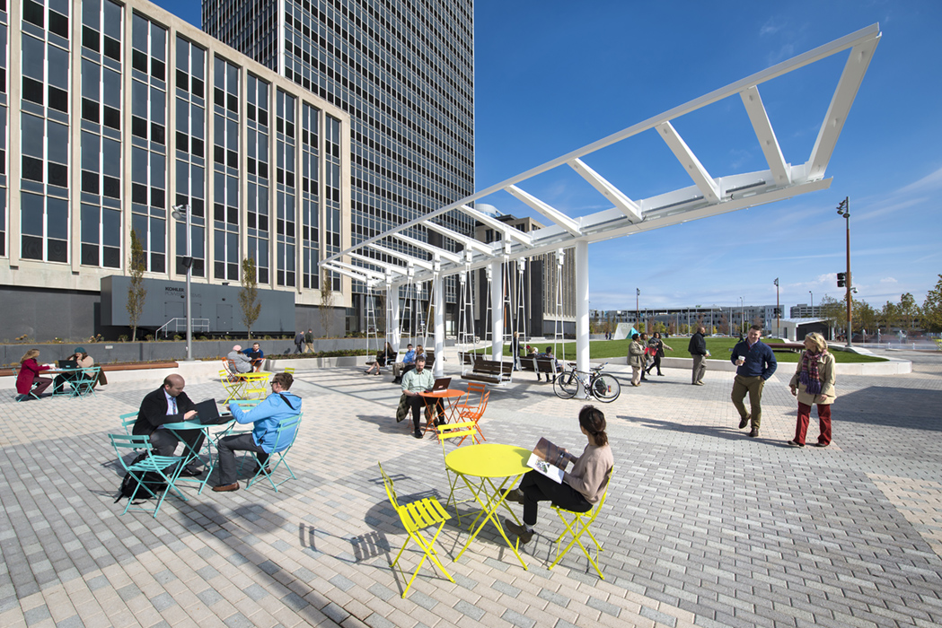 Leisure swings: bring a book, your lunch, your friend.  Image by Daniel Showalter/REA.