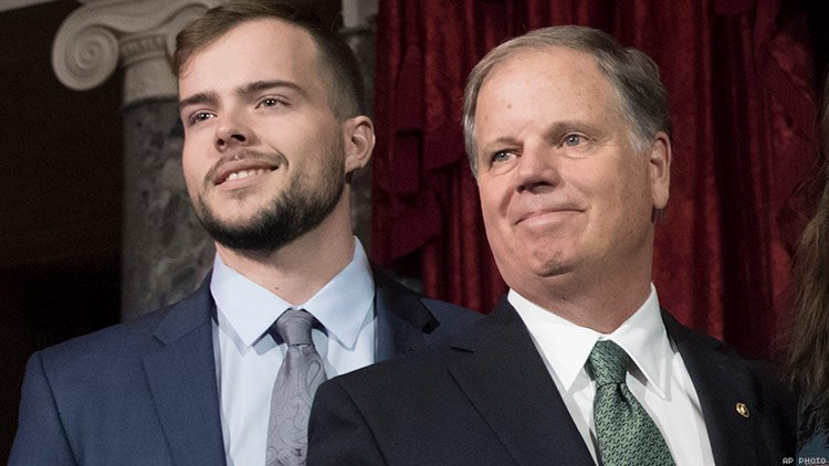 "Dear Alabama: Sen. Doug Jones' Gay Son Has a Message for His State - ADVOCATE - ""Carson Jones pens an open letter to Alabama after the state advances an antigay bill stripping marriage rights from everyone.""LINK TO STORY"