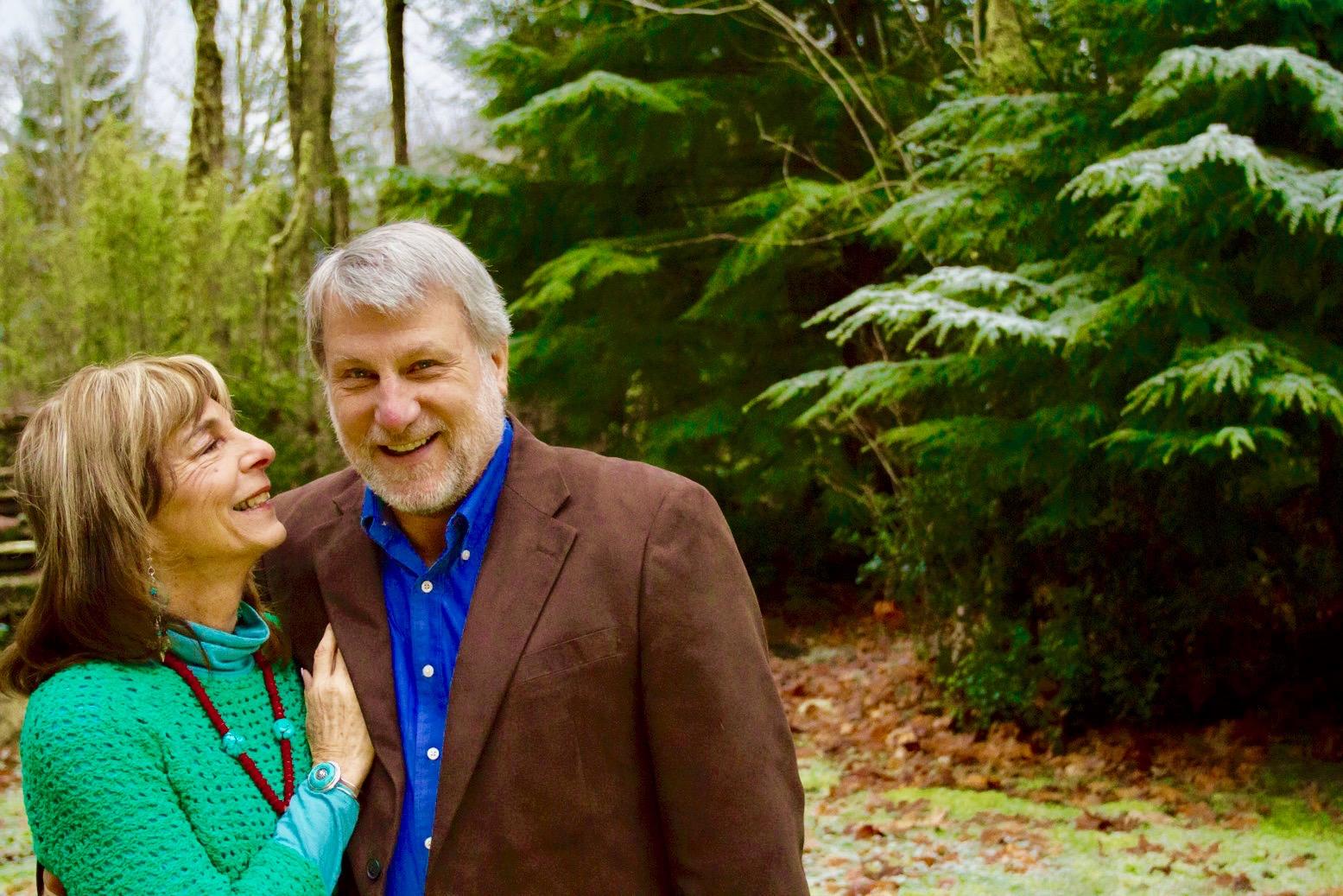 David and Diane enjoying a walk through the forest.