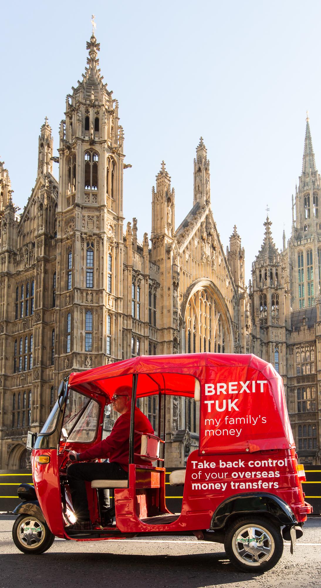 InstaReM | Brexit Tuk-Tuk