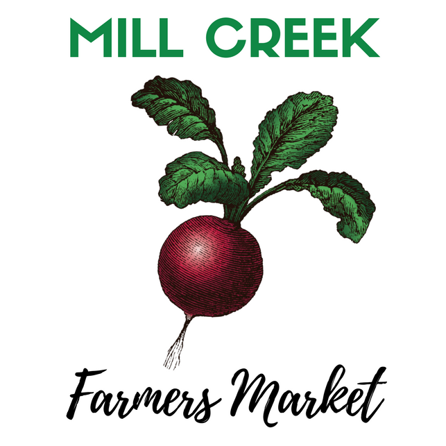 Mill Creek Farmers Market - Tuesdays 3-7pmJune-AugustCity Hall North Parking Lot, Mill CreekFacebook Page