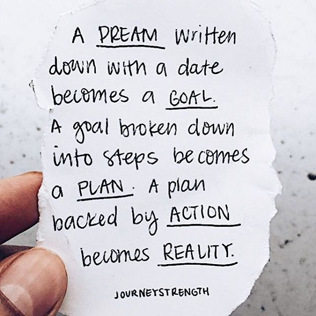 What are your dreams?! What are your goals? Your plans? Write them down, sit with them, and communicate with the universe. You can do whatever you want to do. You can be whoever you want to be. But you must have a plan, and you must act on it. ✨✨✨ ⠀⠀ Want to lose weight? That is your dream. Want to lose 15 pounds by Christmas? That is your goal. Now what are your plans? You could: 1) decide to change your eating habits 2) create a workout plan for yourself 3) hire a personal trainer and/or health coach.  Be crystal clear about what it is that you want and then go out and get it. 💪