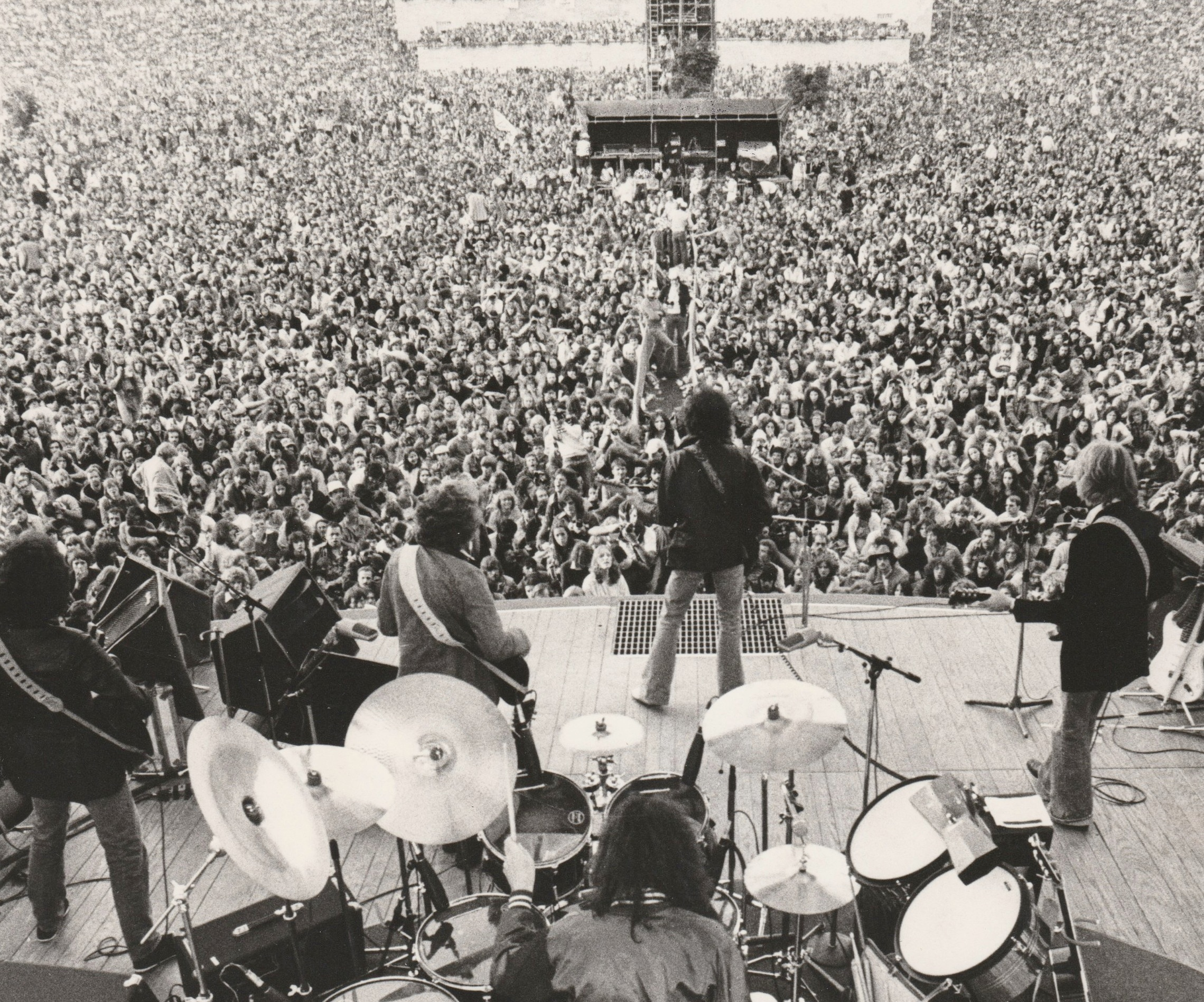 At Black Bush out side of London July 1978 in front of a crowd of 200,000 fans. (That's twice the population of Duluth, our hometown!) The next day Bobby and I flew back to NYC on the Concord then on to Minneapolis.