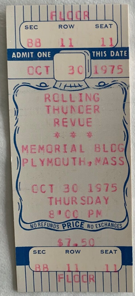 One of the original Rolling Thunder tickets.