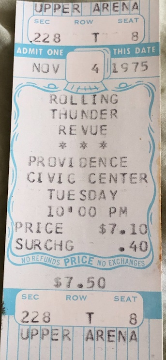 Ticket for Rolling Thunder show in Providence