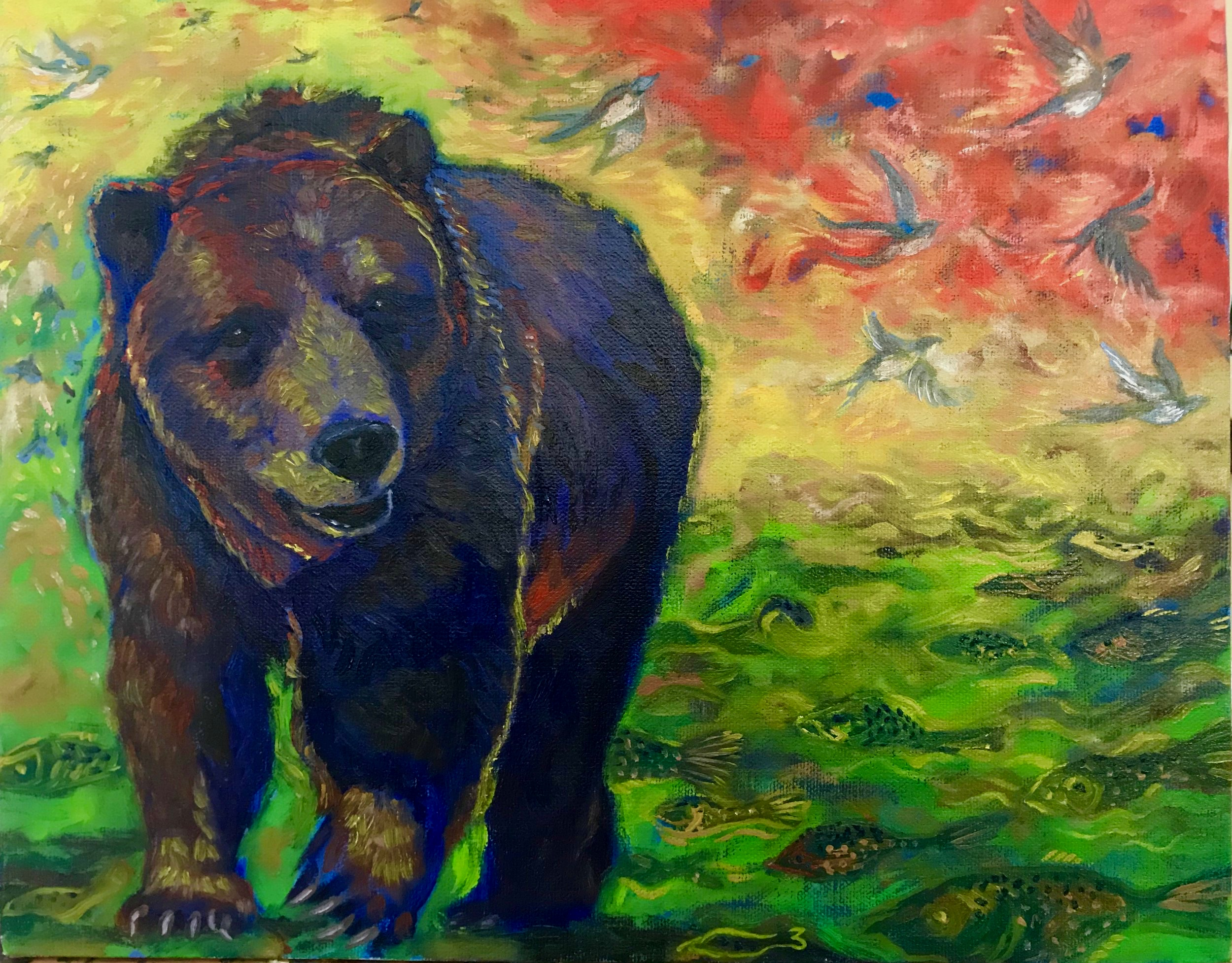 Bear, Birds and Fish