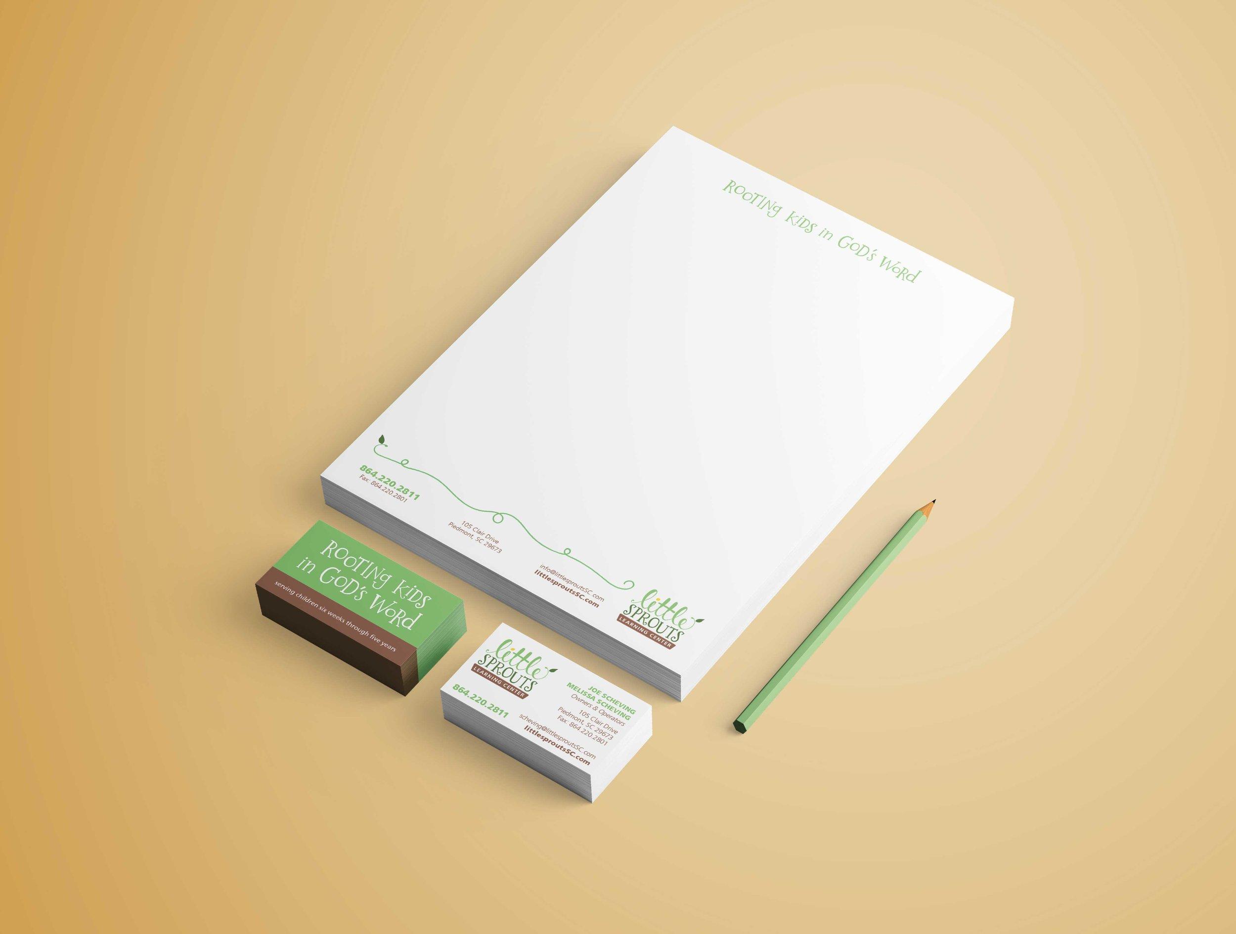 letterhead business card branding design