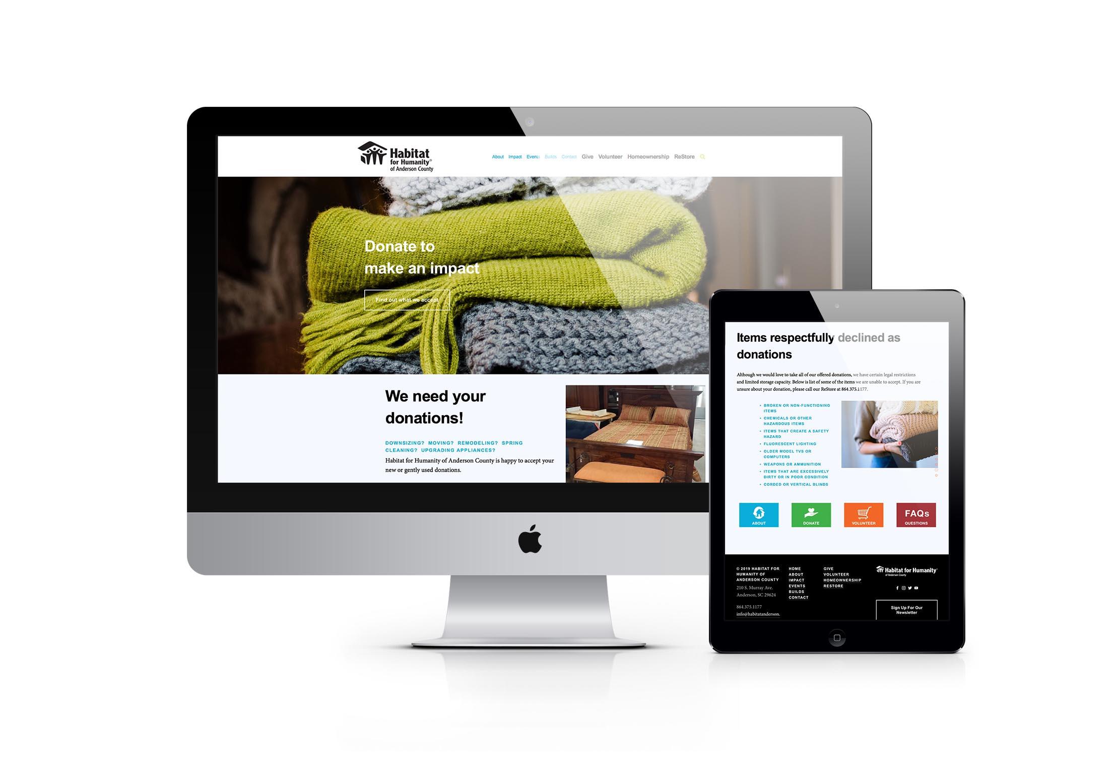 Habitat Website nonprofit Restore