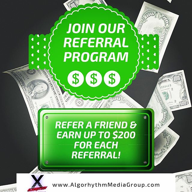 You spoke & we listened👂  Get rewarded for each referral you send our way. Earn up to $200 for everyone you refer. For more info, visit our website or send us an email & keep spreading the word! . . #Algorhythm #mediaproduction #SolveForX #podcast #podcasts #podcasting #podcaster #podcastersofinstagram #audio #video #referrals #supportsmallbusiness #videoproduction #money #bonus #earnit #podcastnetwork #networking #smallbusiness #centralflorida #wintergarden #orlando #podcastlife #community #studio #recordingstudio #music