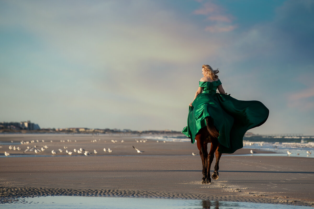 A Magical Photography Session With Horse And Rider On The Beach Fast Horse Photography