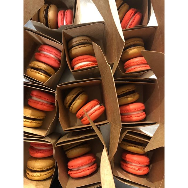 French macarons for birthday party giveaway. #birthday #celebration #macarons #chocolate #redvelvet