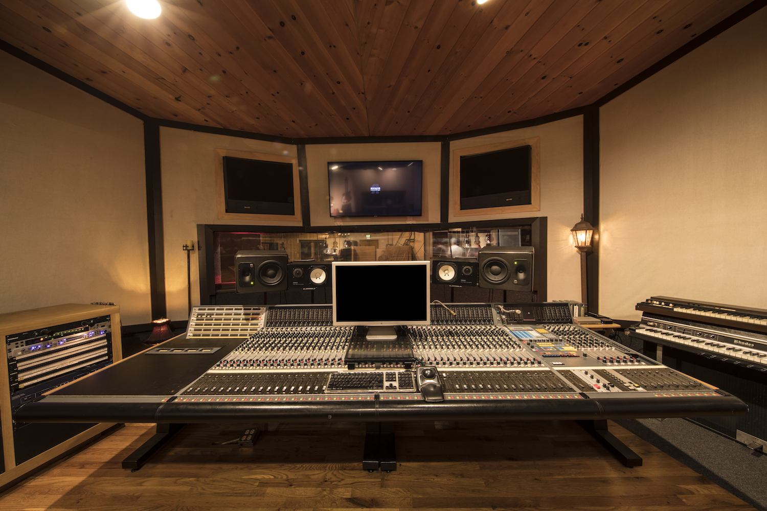 Studio A - Built in the 1970's, this large control room is a hidden gem for artists and producers. Centered around a classic Neve 8128 console with a wide range of vintage analogue outboard. Equipped with Pro Tools HD and Tannoy DMT15 monitoring.