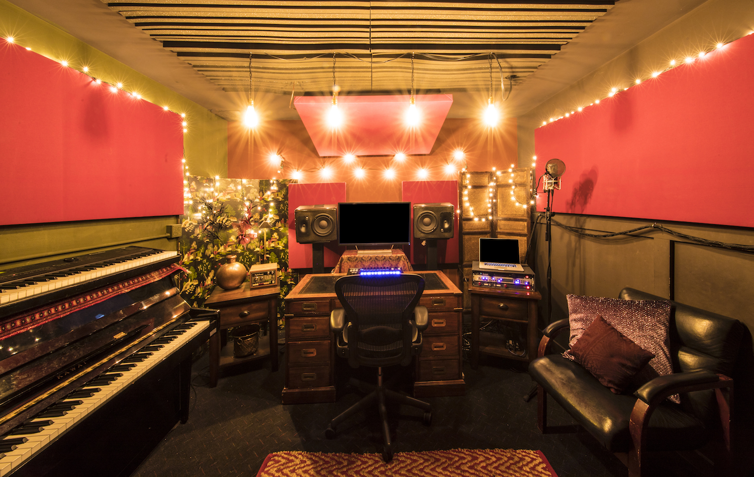 Secret - Lose yourself in the Secret room adjacent to Studio A Live Room. The Secret Room is ideal for overdubs, editing, and writing sessions.