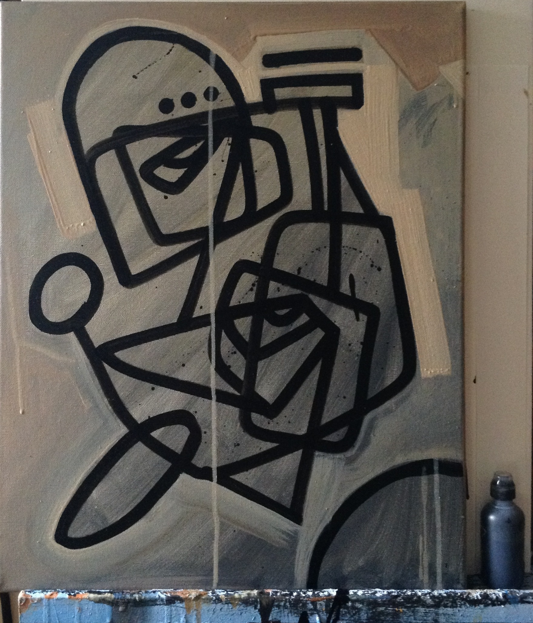 "16""x20"", Acrylic & ink on canvas, 2015"