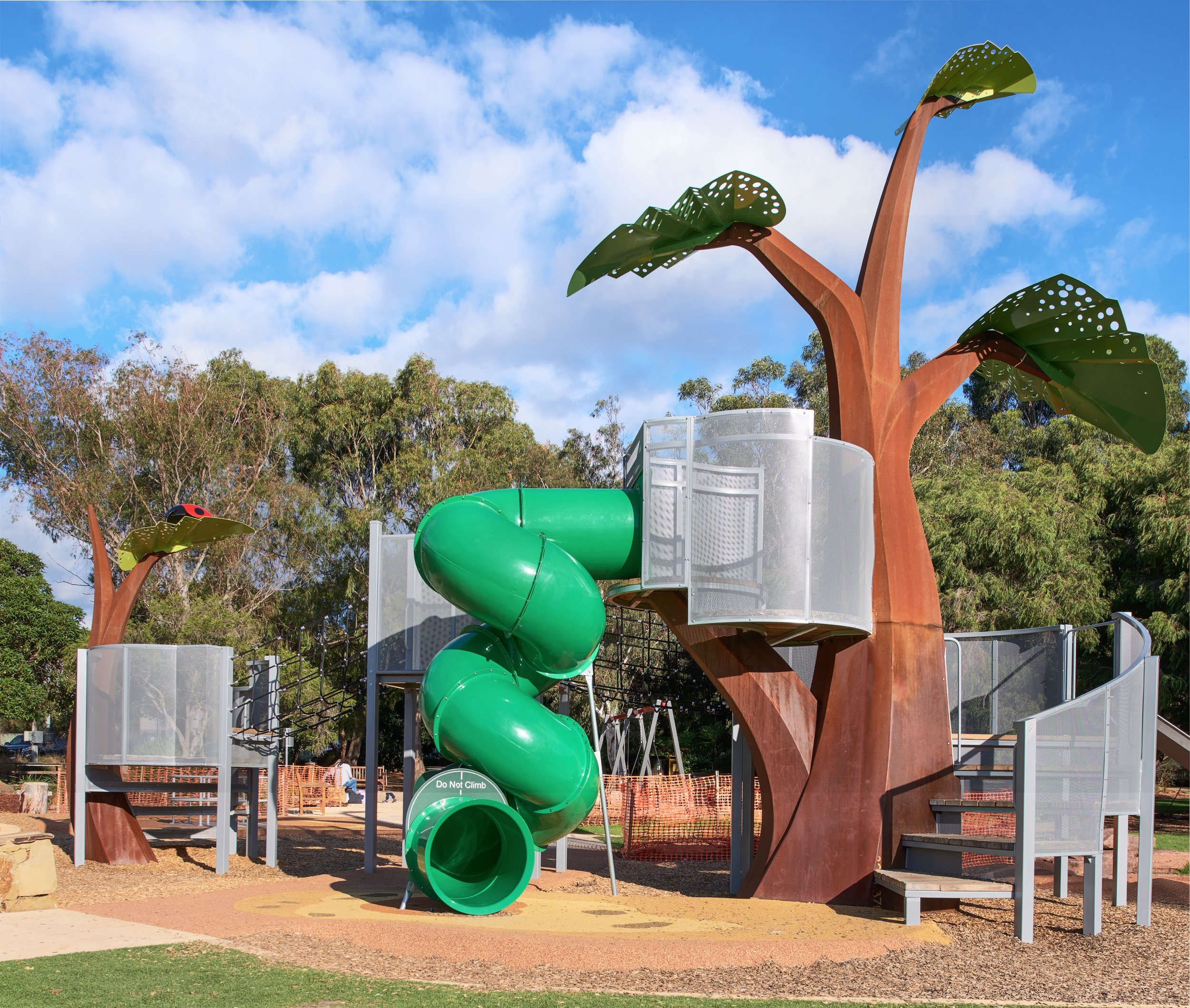 The Sprout is the key feature of the George Pentland Botanic Gardens playspace. Photography:  Wolf Nitch