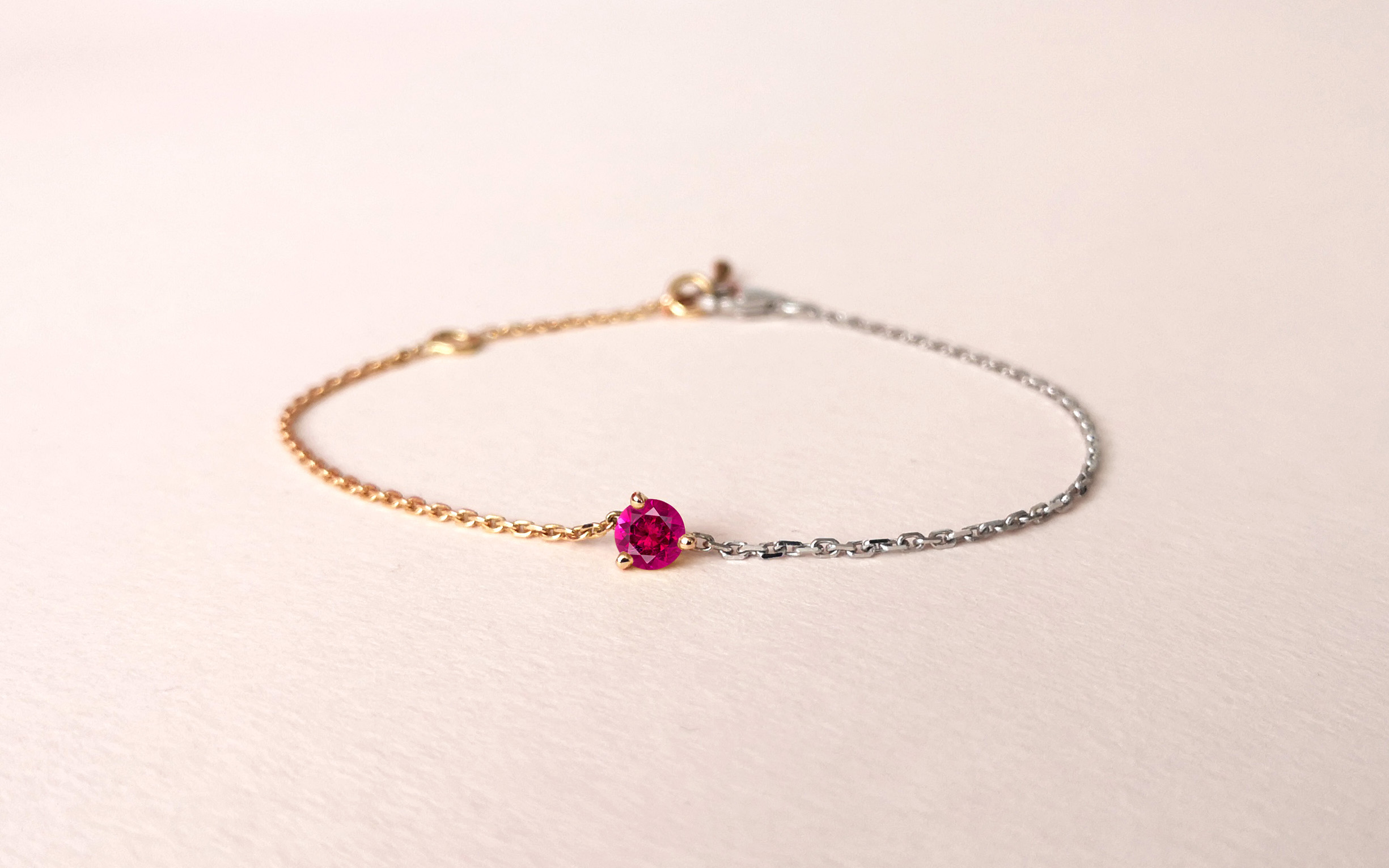 Bracelet Douce Echappée rubellite, Collection Weekends Express - Courpré Joaillerie - The Explorative Fine Jewelry