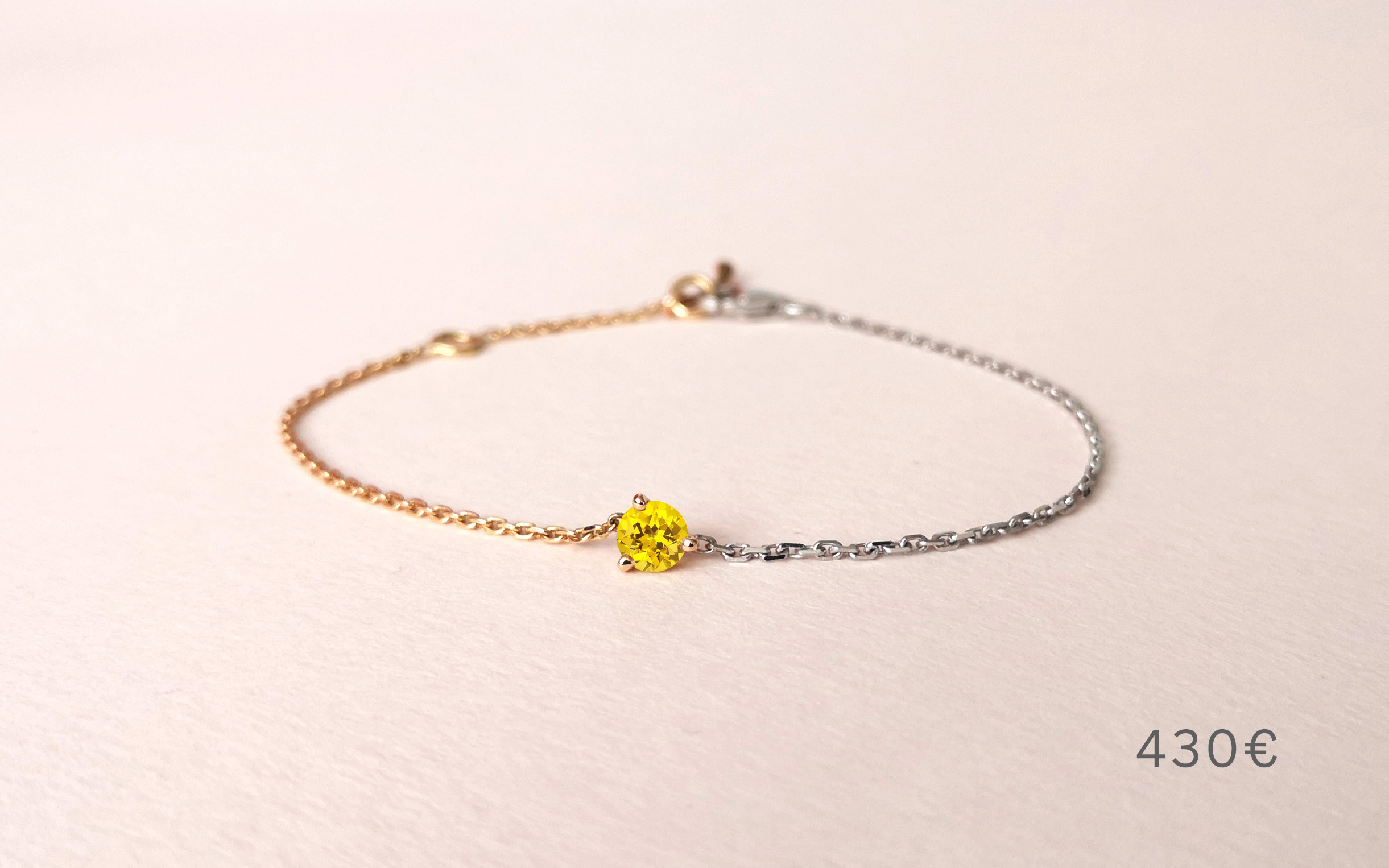 Bracelet Douce Echappée saphir jaune, Collection Weekends Express - Courpré Joaillerie - The Explorative Fine Jewelry