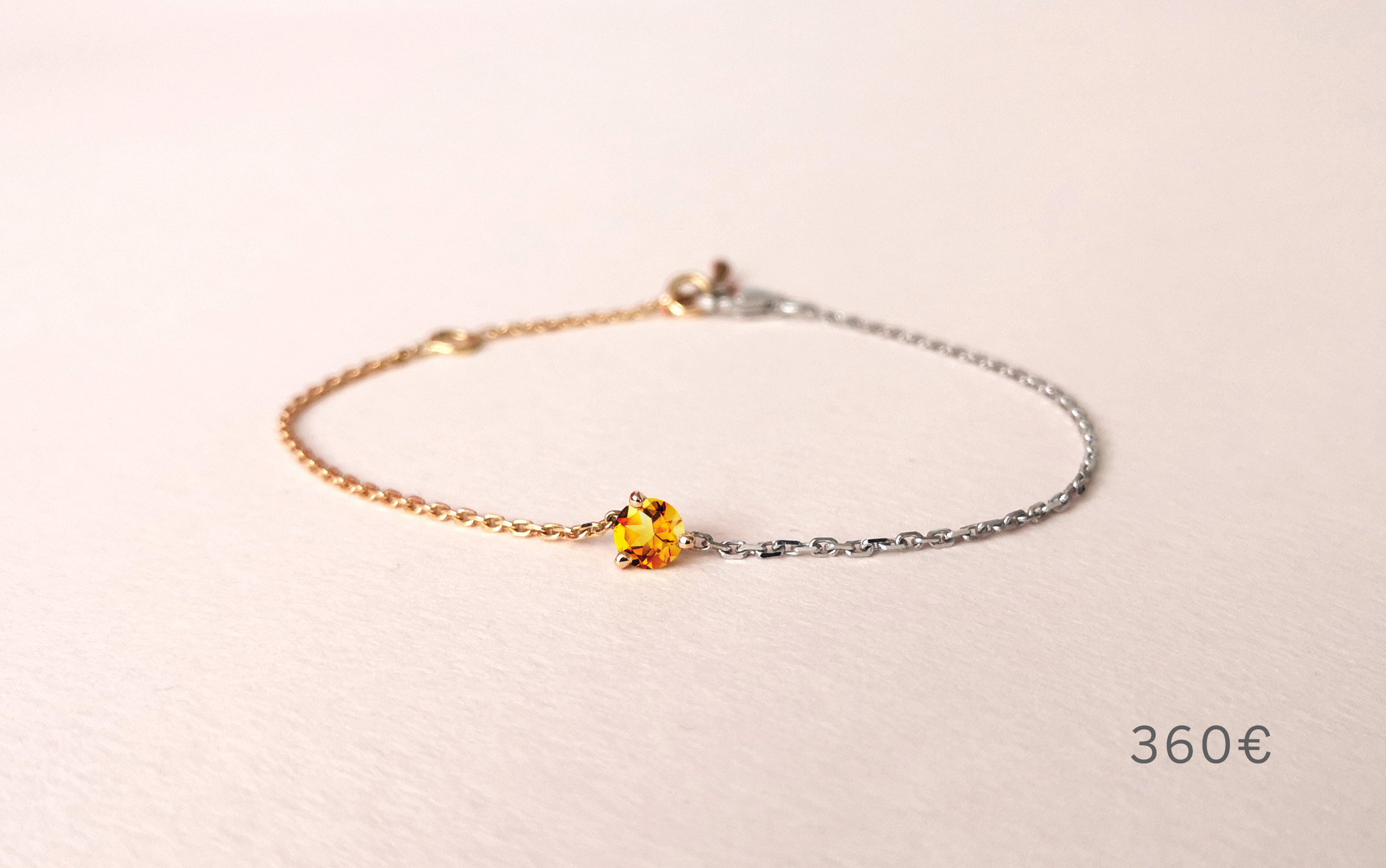 Bracelet Douce Echappée citrine, Collection Weekends Express - Courpré Joaillerie - The Explorative Fine Jewelry