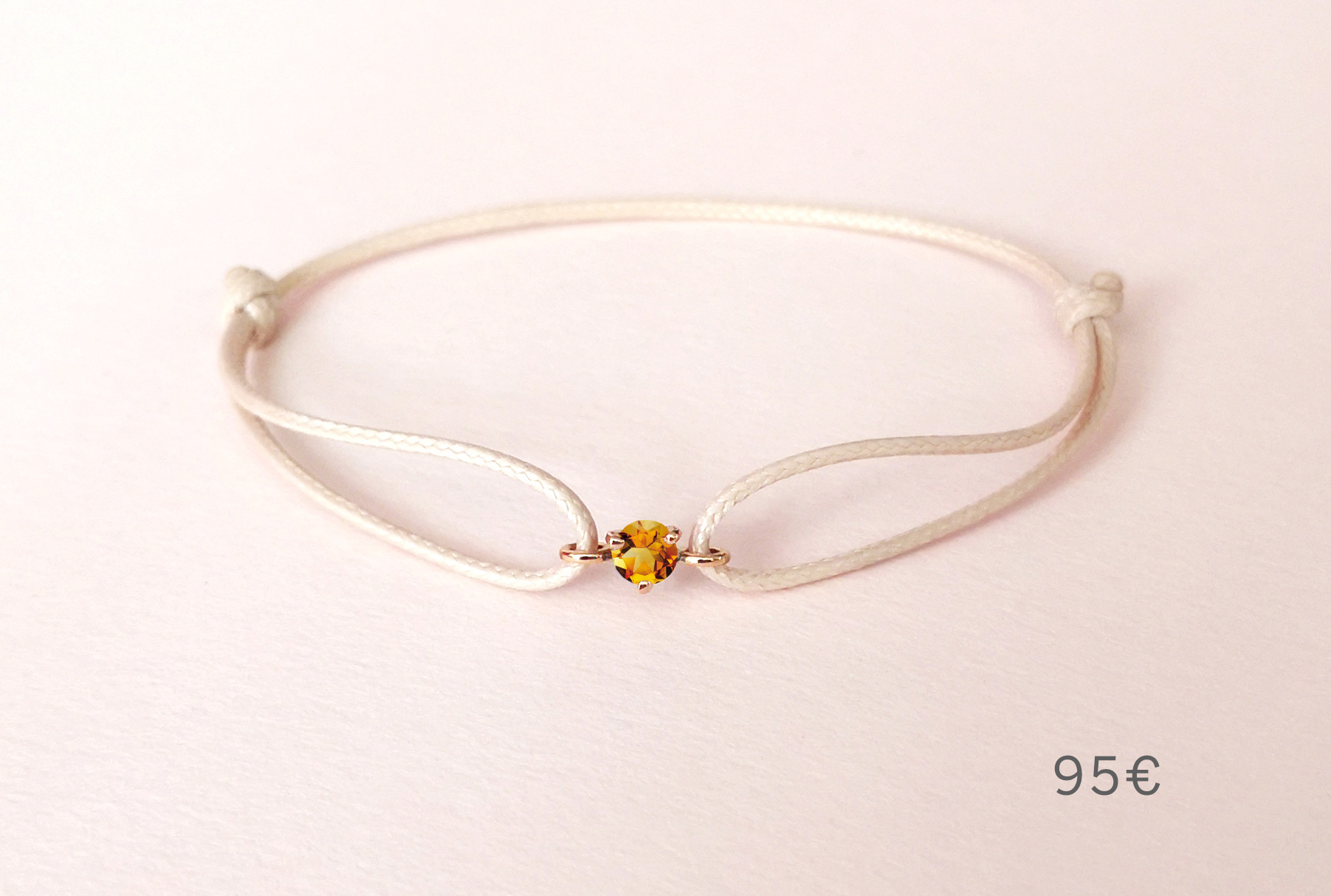 Bracelet Pause Goûter citrine, Collection Weekends Express - Courpré Joaillerie - The Explorative Fine Jewelry