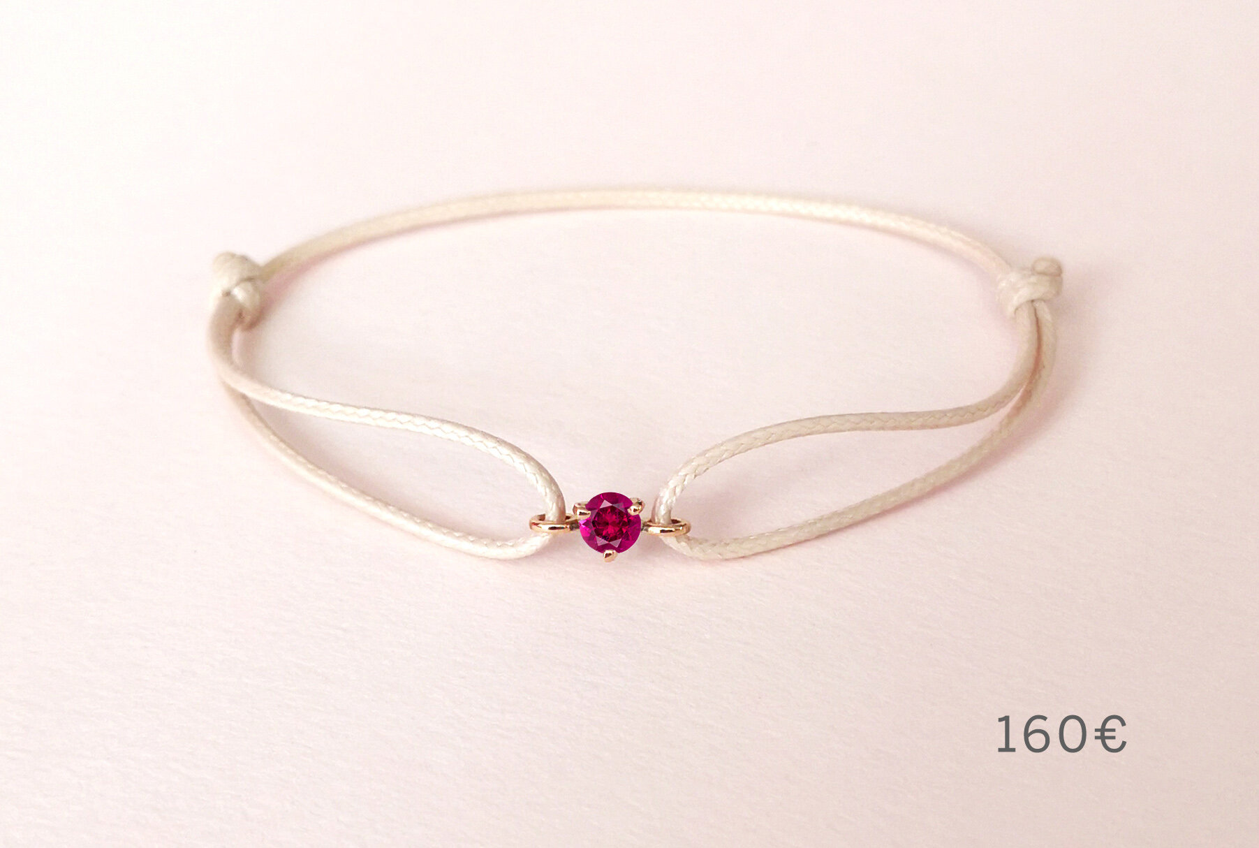 Bracelet Pause Goûter tourmaline rose, Collection Weekends Express - Courpré Joaillerie - Fairmined French Jewelry