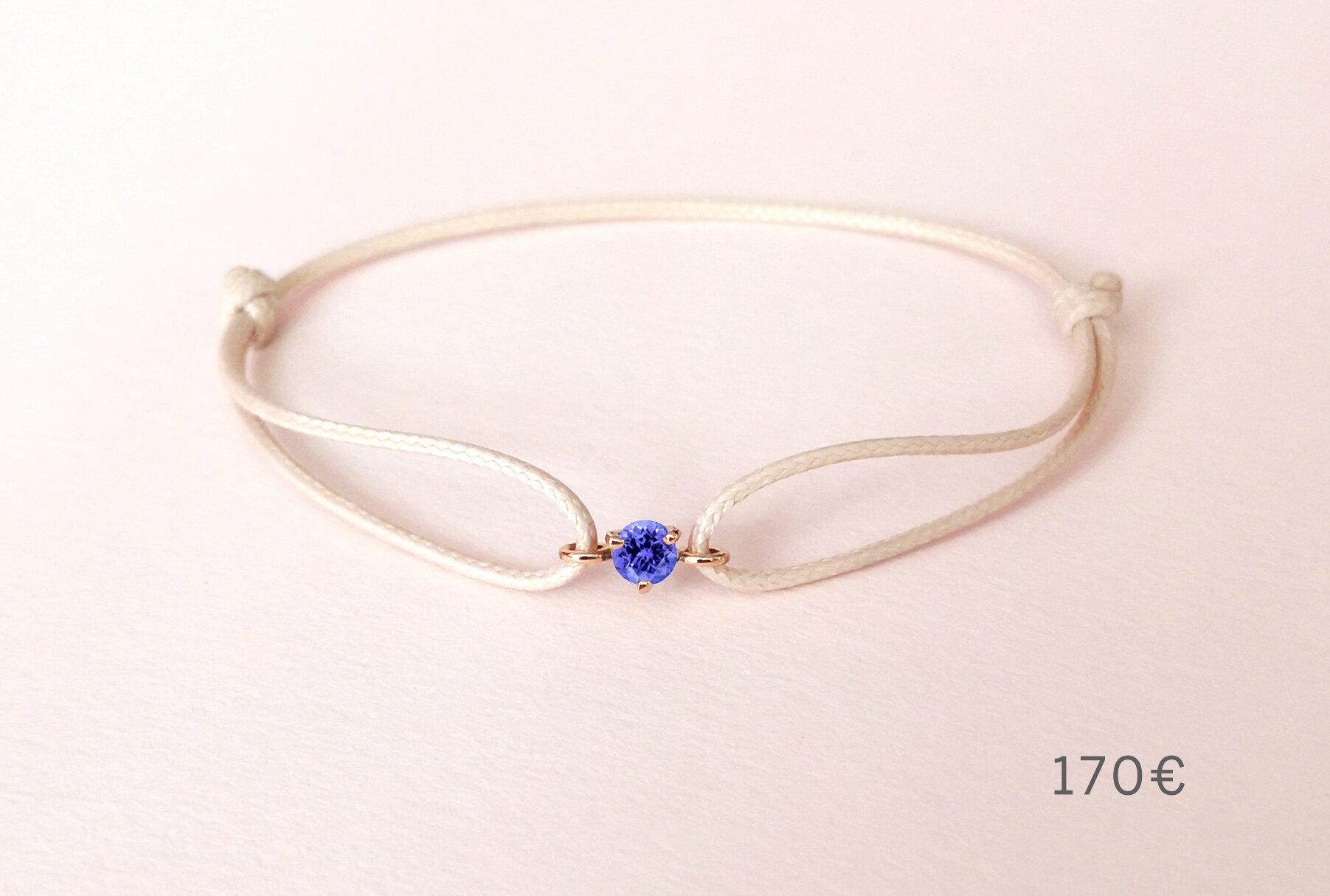 Bracelet Pause Goûter tanzanite, Collection Weekends Express - Courpré Joaillerie - The Explorative Fine Jewelry