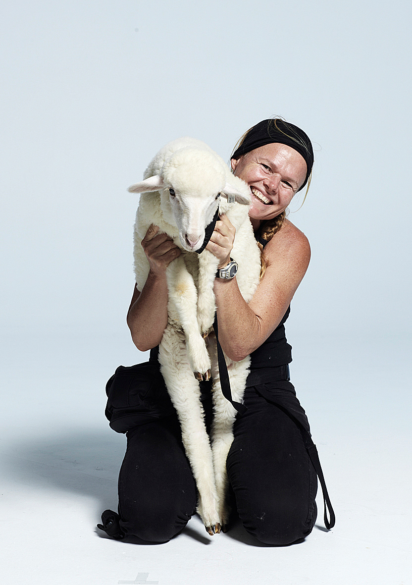 Kirsko Film Animals Kirstin and Sheep in Studio.jpg