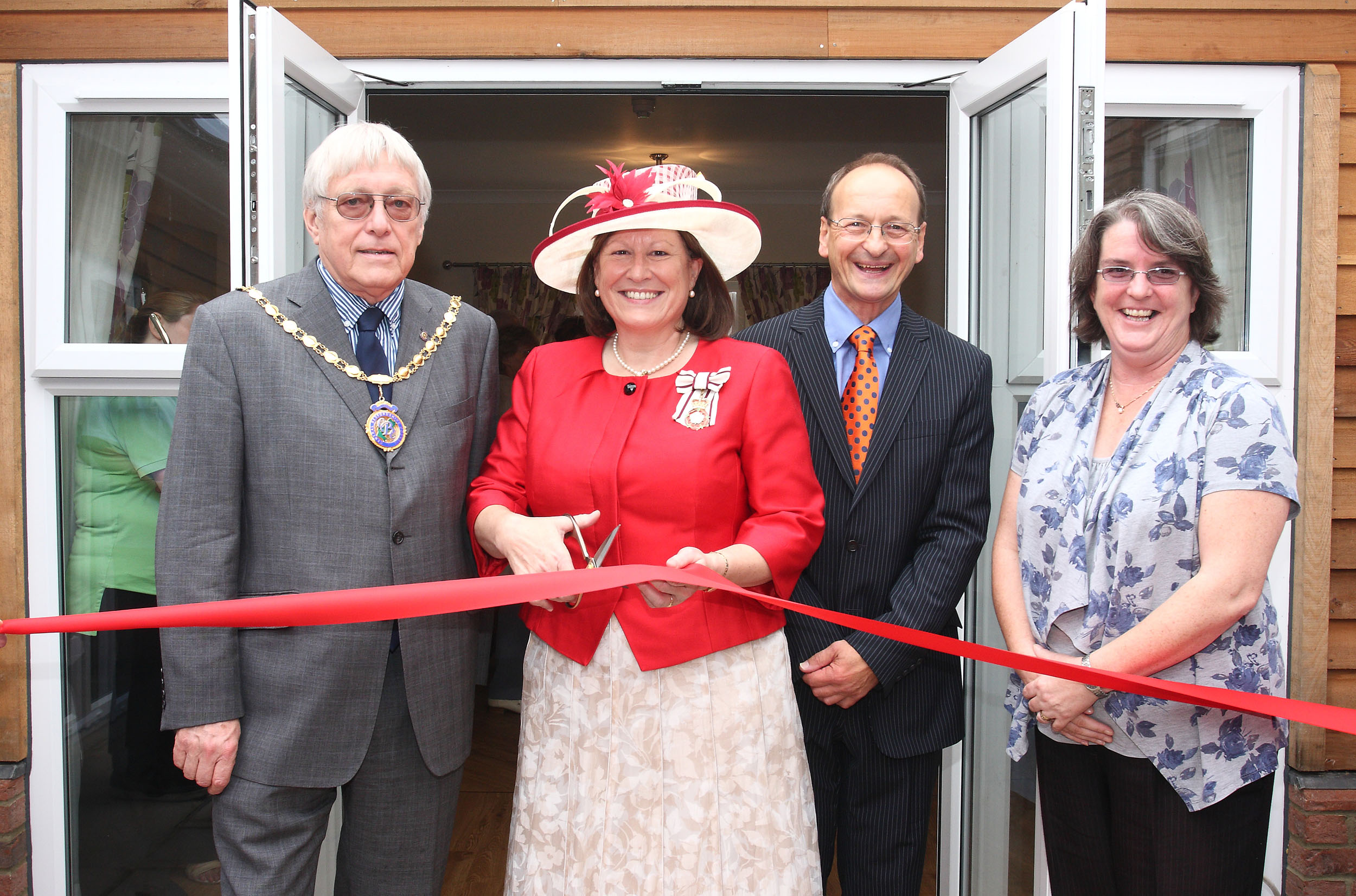 The official opening ofthe east side rooms in September 2013 -