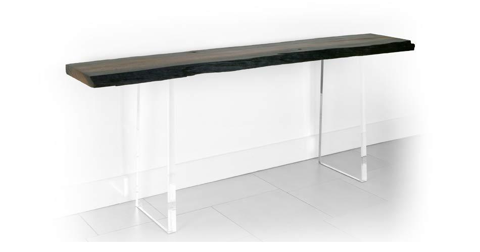 Bog Oak Slab Hall Table