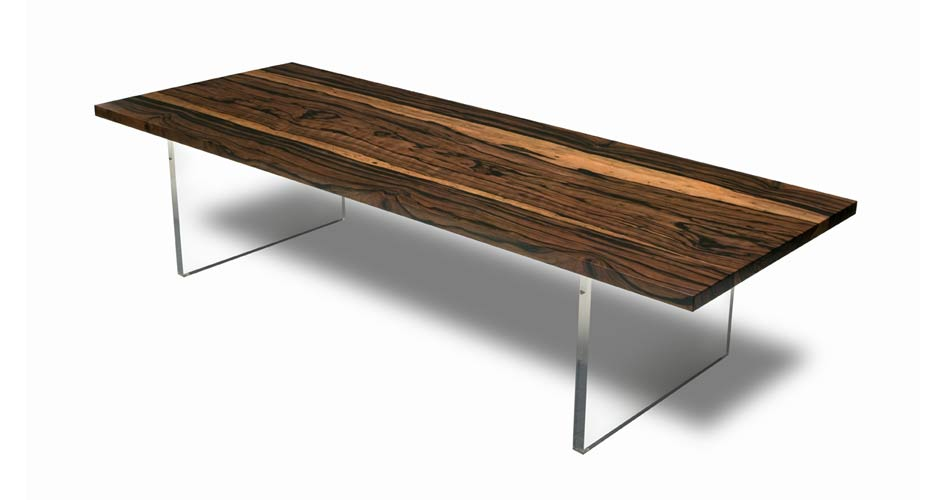 Indian Ebony and Acrylic Low Table