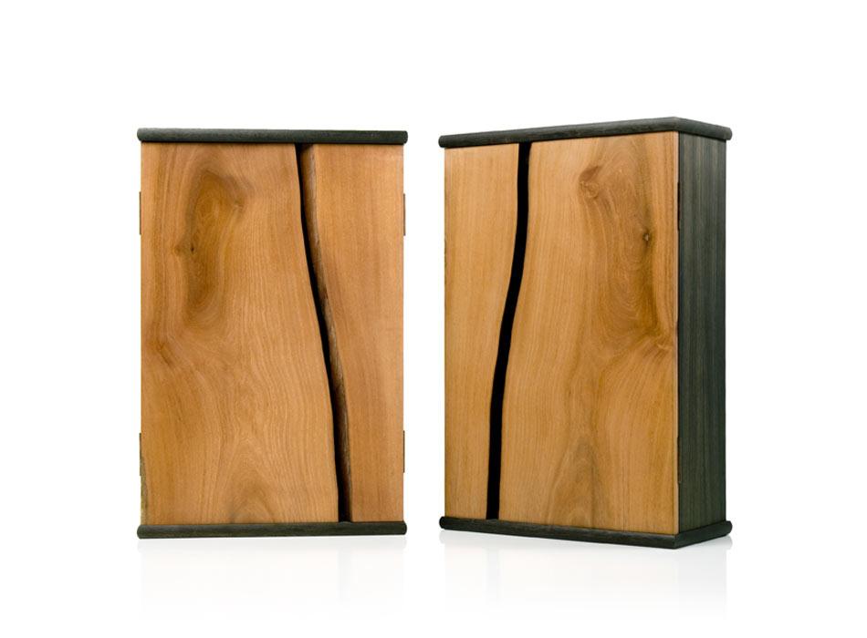 Mahogany and Ancient Oak Cabinets