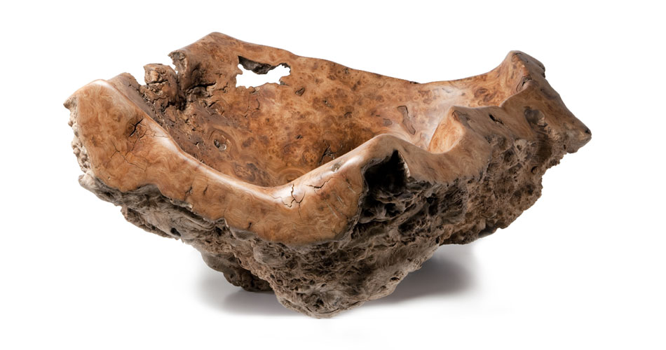 Large Oak Burr Vessel