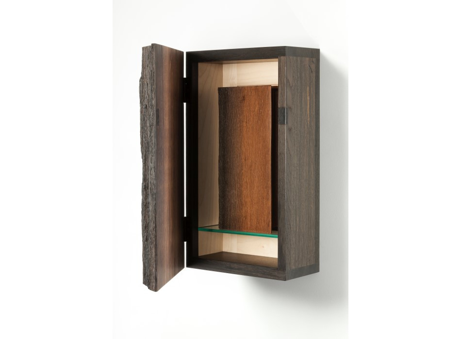 Wall hung Bog Oak 'Bookcase'